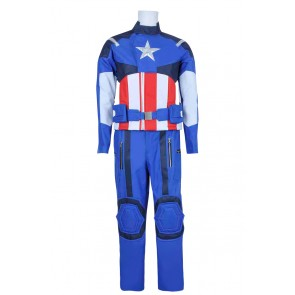 Captain America Steve Rogers Cosplay Costume Uniform