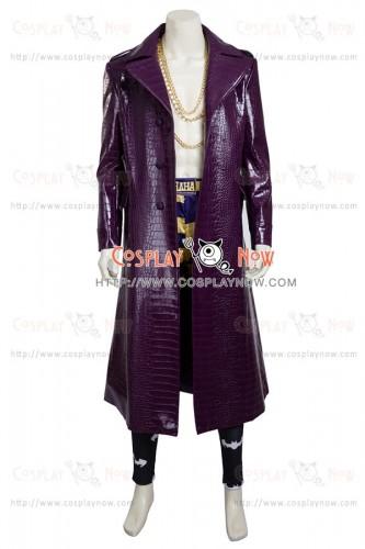 Suicide Squad Joker Batman Cosplay Costume Purple