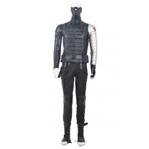 The Winter Soldier Bucky Barnes Winter Soldier Costume For Captain America 2 Cosplay