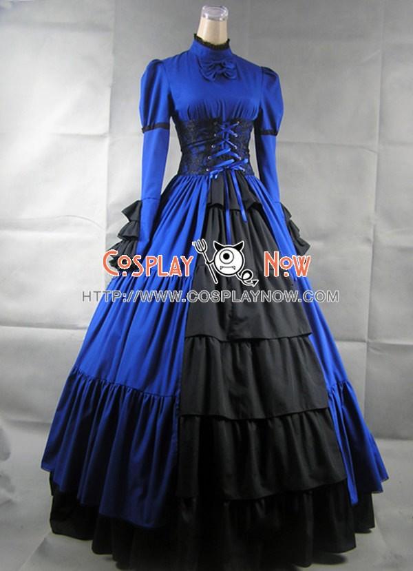 Victorian Lolita Steampunk Corset Dress Ball Gown Prom