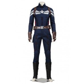Captain America The Winter Soldier Cosplay Steve Rogers Costume