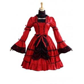 Victorian Lolita Princess Fairy Gothic Lolita Dress Red