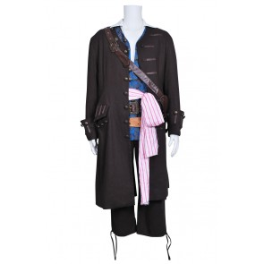 Pirates Of The Caribbean 4 Cosplay Jack Sparrow Costume