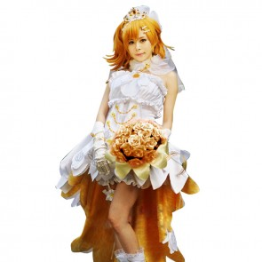 Love Live LoveLive Cosplay Honoka Kōsaka Costume Wedding Dress
