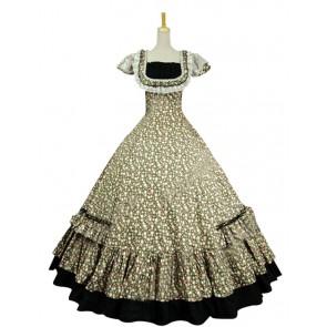 Victorian Civil War Ball Gown Reenactment Halloween Punk Lolita Dress Costume