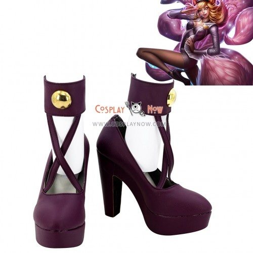 League of Legends Popstar Ahri The Nine Tailed Fox Purple Cosplay Shoes