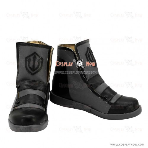 RWBY Neptune Vasilias Black & Grey Cosplay Boots