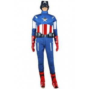The Avengers Captain America Steve Rogers Uniform Cosplay Costume