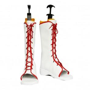 Naruto Cosplay Shoes Sakura Haruno White Boots