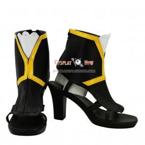 Unlight Euphoria Shalott Black & Yellow Cosplay Shoes