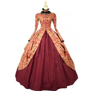 Victorian Gothic Formal Ball Gown Reenactment Clothing Stage Lolita Dress Costume