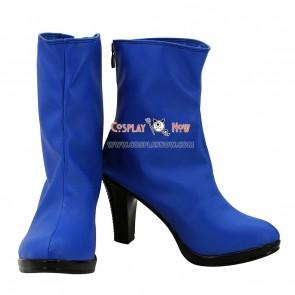 JOJO Jolyne Cujoh Blue Hight Heel Cosplay Boots