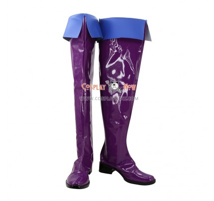 Castlevania Cosplay Shoes Soni Belmont Purple Boots