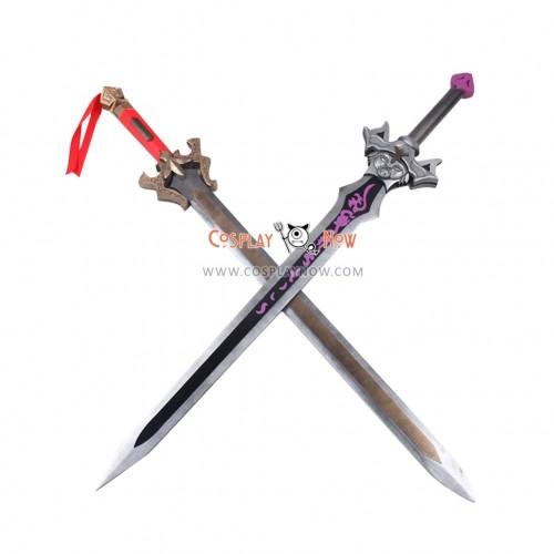 Dynasty Warriors 7 Liu Bei Double Swords PVC Replica Cosplay Props