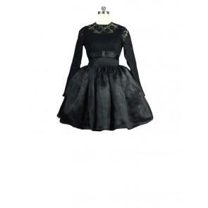 Victorian Lolita Steampunk Black Gothic Lolita Dress
