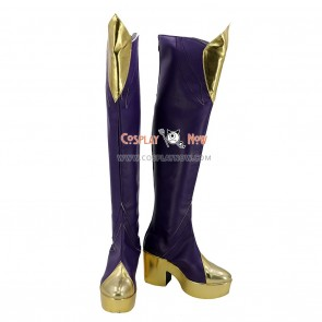 League of Legends LOL Cosplay Shoes Elementalist Lux Fire Concept Purple Boots