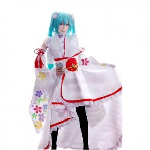 Vocaloid 2020 Cosplay Hatsune Miku Kimono Costume