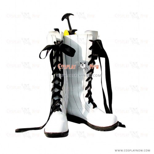 Black Butler Cosplay Shoes Book of Circus Ciel Phantomhive White Boots