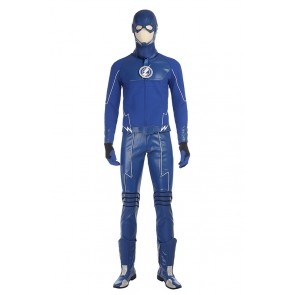 DC Justice League The Flash Barry Allen Cosplay Costume Blue Version