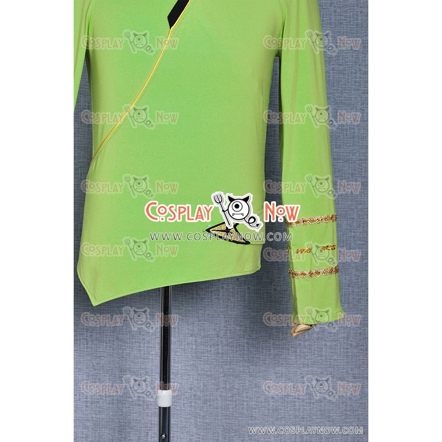 Star Trek Cosplay TOS Command Costume Green Wrap Shirt Comfortable To Wear New