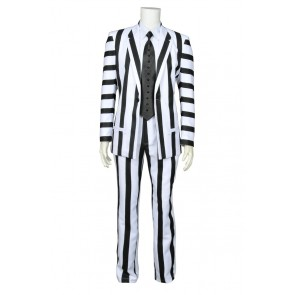 Beetlejuice Betelgeuse Cosplay Michael Keaton Costume