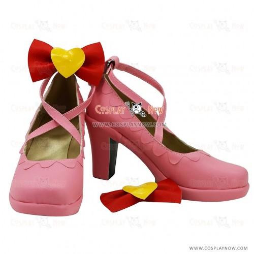 Aikatsu! Ichigo Hoshimiya Pink Cosplay Shoes