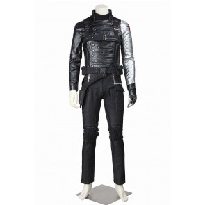 The Winter Soldier Bucky Barnes Costume For Captain America 2 Cosplay