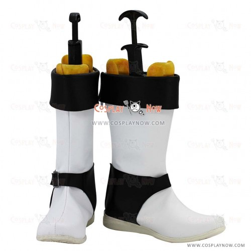 Touhou Project Cosplay Shoes Rinnosuke Morichika White Boots