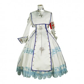 Trinity Blood Esther Blanchett Cosplay Costume White Dress
