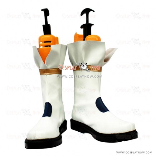 White Magical Girl Lyrical Cosplay Shoes Nanoha Boots