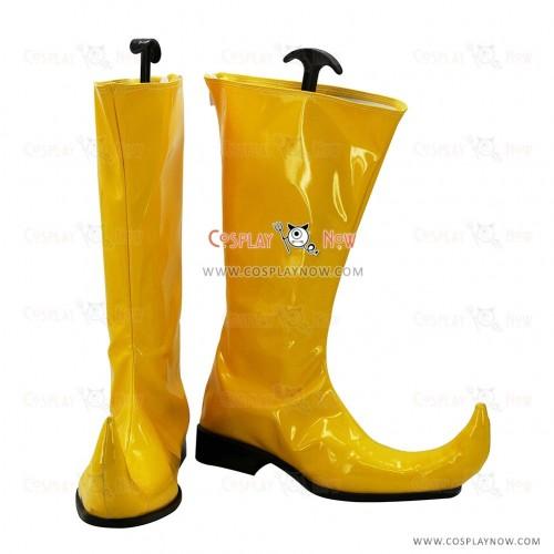 Digimon Adventures Cosplay Shoes Piemon Yellow Boots