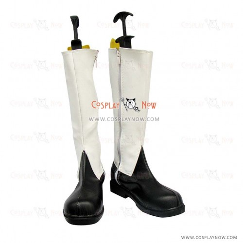 Black Butler Cosplay Shoes Ciel White Boots
