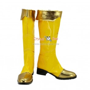 League of Legends Cosplay Shoes Leona Yellow Boots