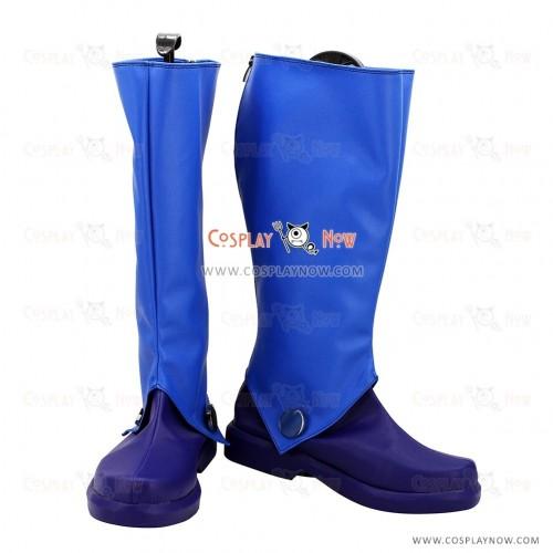 Tales of Destiny Cosplay Shoes Leon Magnus Magnus Blue Boots