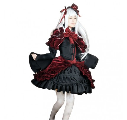 K Cosplay Anna Kushina Costume Red Black Dress