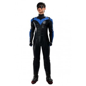 Nightwing Costume For Batman Arkham City Cosplay Uniform
