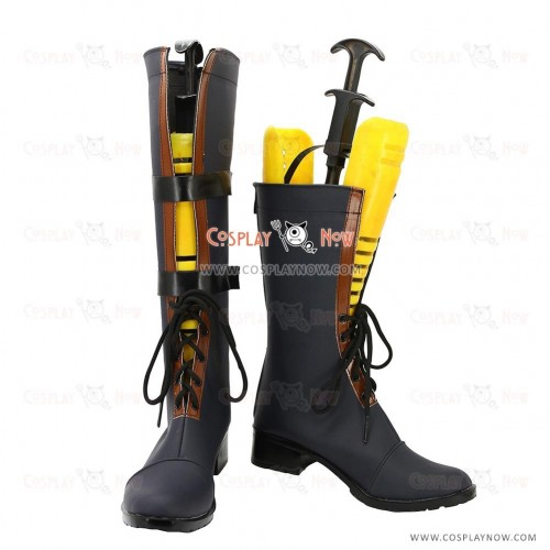 Tales of Vesperia TOV Cosplay Shoes Yuri Lowell School Uniforms Boots