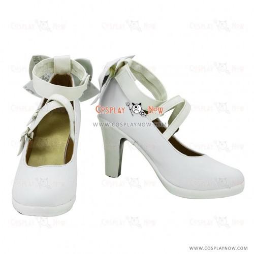 White Puella Magi Madoka Magica Kaname Madoka Cosplay Shoes