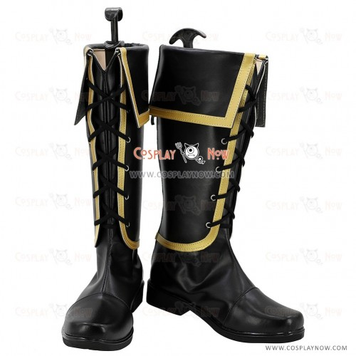 The Legend of Heroes Juna Crawford Black Shoes Cosplay Boots
