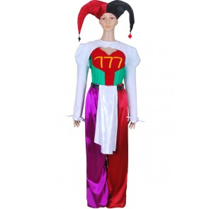 Pierrot Bolneze Cosplay Female Clown Joker Costume