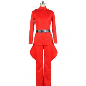 Star Wars Imperial Stormtrooper Officer Admiral Cosplay Costume Red