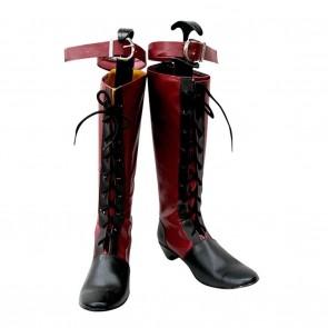 Black Butler Cosplay Shoes Kuroshitsuji Ciel Red Boots