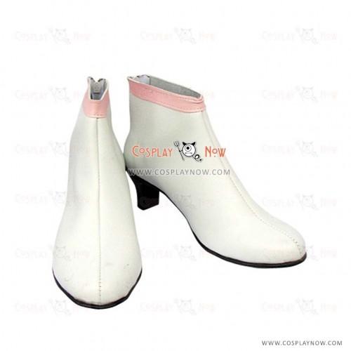 Gundam Seed Lacus Clyne White Cosplay Shoes