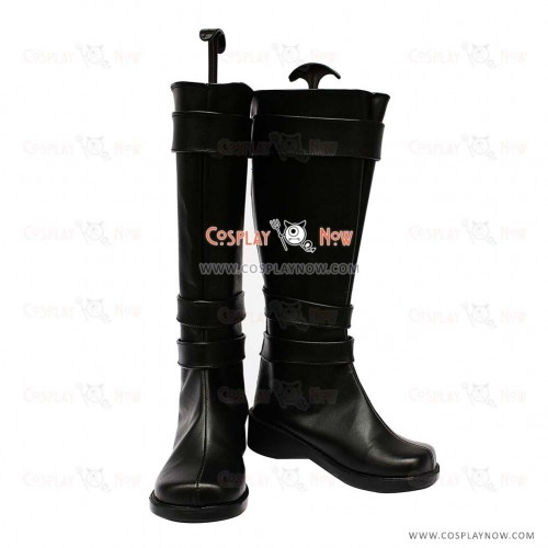Vocaloid Cosplay Shoes Type-H Black PU Boots