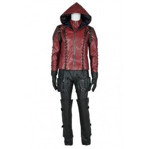 Green Arrow Season 3 Cosplay Red Arrow Roy Harper Costume