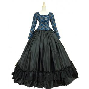 Civil War Victorian Corduroy Gown Reenactment Halloween Lolita Dress Costume