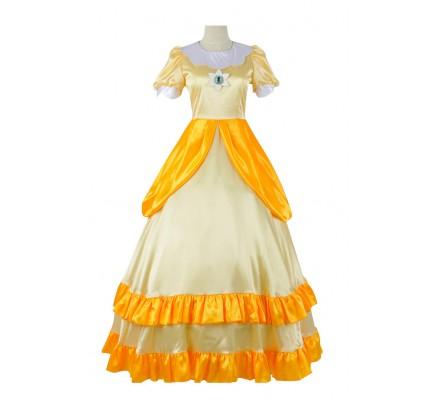 Super Mario Bros Cosplay Princess Daisy Dress Costume