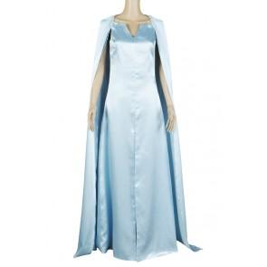 Daenerys Targaryen Costume For Game of Thrones Season 5 Cosplay Blue Dress