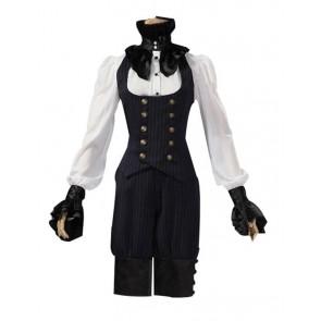 Victorian Tailored Suit Stripe Vest Breeches Halloween Steampunk Costume