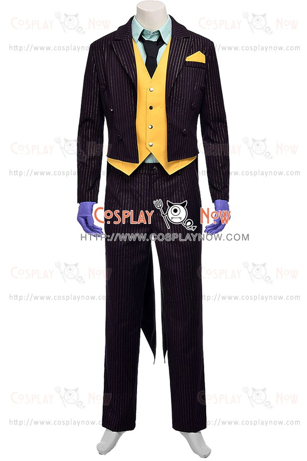 The Joker Costume For Batman Arkham City Cosplay Tuxedo Suit